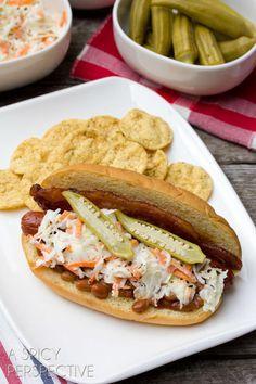 Southern Comfort Hot Dog | FaveSouthernRecipes.com