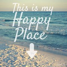 The beach is our happy place! Click link for beach quotes that will inspire your next beach vacation!