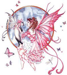 Siamese cat and fairy