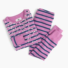 Pj's. Jammies. Jam-jams. Sleepy suits. No matter what you call them, one thing's certain: Our soft cotton pajamas are anything but a snoozefest, thanks to the one-of-a-kind prints that make kids actually get excited for bedtime. This striped set is covered in glittery stars... What's dreamier than that? <ul><li>Cotton.</li><li>Machine wash.</li><li>Import.</li><li>Online only.</li></ul>