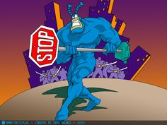 Hey! You in the pumps! I say to you - stop being bad! ~ The Tick #quote #TickquoteTuesday