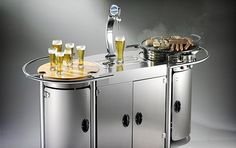 Alpina Mobile Beer Bar - also features a gas cook top or storage for a spare keg if you're more into sippin' than grubbin' $11000