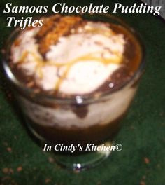 In Cindy's Kitchen: Samoas Chocolate Pudding Trifles