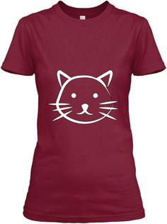 Cats Lovers Cardinal Red Women's T-Shirt Front