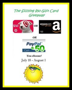 Win a $50 Target, Amazon or Paypal Cash Gift Card - A Medic's World #giveaway #win #prizes #sweeps #amazon #target