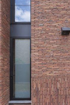 Sustainable brick inspiration from around the world. Brick Cladding, Brick Facade, Brickwork, Facade House, Brick Design, Facade Design, Exterior Design, Brick Detail, Brick Texture