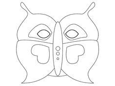 karnevalová maska motýl