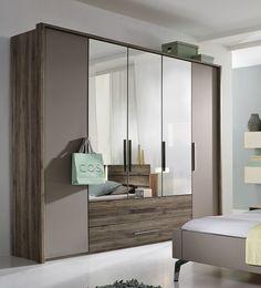 Rauch Steffen Manila Wardrobe with Middle Door in Crystal Mirror