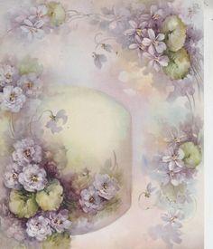 Violet Studies 11 by Sonie Ames China Painting Study 1965 | eBay