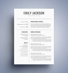 Resume Templates Modern Resume Template / CV Template for Word Cover Letter Creative Cv Template, Best Cv Template, Sample Resume Templates, Modern Resume Template, Resume Template Free, Templates Free, Online Templates, Free Resume, Cover Letter Template