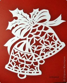 Decoration of windows on Christmas and New Year. And stencils. - Club New Year's Ideas and Prepare sleighs in summer. Christmas Stencils, Christmas Templates, Christmas Paper Crafts, Christmas Bells, Christmas Art, Christmas Projects, Christmas Decorations, Christmas Ornaments, Kirigami