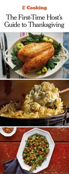There's a first time for everyone. Our menu planner can help you build the perfect Thanksgiving meal, regardless of skill level. (Photos, from top: Melina Hammer for NYT; Andrew Scrivani for NYT: Michael Kraus for NYT)