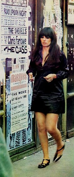 Posters of The Marquee club in London.  http://www.themarqueeclub.net