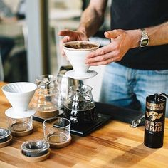 Weekend Pour Over Action Perfect Hario V60 into the Range Server. Shop Hario @alternativebrewing Link in Bio  1-4 Day Shipping | by @brewbrossb
