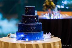 constellation cake with different star constellations morton arboretum wedding