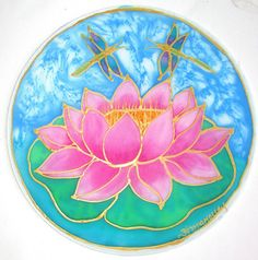 mandala Pink Lotus mandala art lotus art by HeavenOnEarthSilks