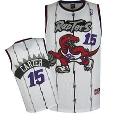 acc5e0328 Toronto Raptors Vince Carter  15 Throwback Home Jersey