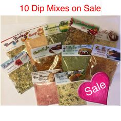 Choose 10 Dip Mixes handcrafted with the highest quality spices in every batch. Also Great for Seasonings! Great party dip mixes by DipsNmore on Etsy https://www.etsy.com/listing/164397892/choose-10-dip-mixes-handcrafted-with-the