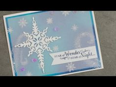 Dutch Fold Christmas card with Pretty Pines Thinlits and Christmas Pines stamp set from Stampin'Up! - YouTube