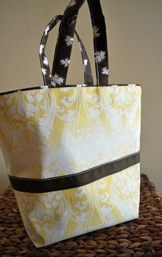 Yellow Paisley Hand Tote by AidensLove on Etsy, $25.00