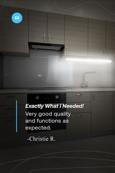 Thank you for the 5 stars, Christie! You are proof that we care about your home as if it were ours. That's why we designed these easy to install tools so you can transform your kitchen in minutes  Be like Christie, and click the link in bio to transform your home today with LED power!