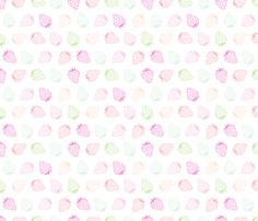 Baby strawberry fabric by littlesmilemakers on Spoonflower - custom fabric - wallpaper and wrapping paper and some DIY inspiration by Maaike Boot