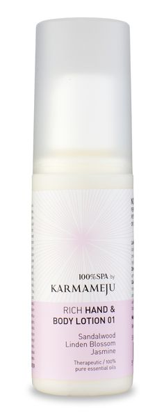 Karmameju Hand and Body Lotion Travel Size These hand lotions are absorbed easily and don't leave an oily residue on the skin. Argan and Sea Buckthorn are combined with pure essential oils to improve elasticity and to hydrate. Hand Lotion, Body Lotion, 100 Pure Essential Oils, Lotions, Travel Size Products, Hands, Sea, Pure Products, Lotion