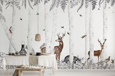Cute House, Woody, Elle Decor, Nursery, Curtains, Wallpaper, Interior, Pattern, Home
