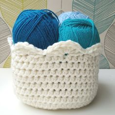 Learn how to crochet a basket to hold anything you need to organize. This free basic pattern includes a few fancy edging options, too!