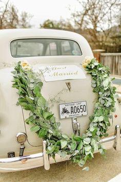 Ślubna Stylówa: dekoracje samochodu - inspiracje