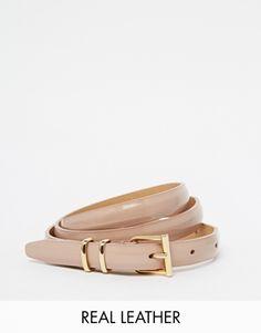 Reiss leather belt