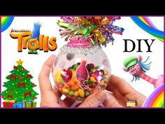 Last Trending Get all images troll christmas decorations Viral maxresdefault Unique Christmas Trees, Diy Christmas Ornaments, Xmas Tree, Christmas Bulbs, Christmas Decorations, Trolls Birthday Party, Troll Party, Holiday Crafts For Kids, Kids Crafts