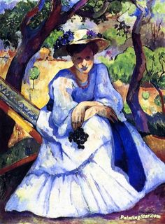 Woman with Grapes, Villa Demière - Henri Manguin (1874- 1949) Henri, Fauvism