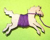 Flicka Titular Cavalo bordados Floss