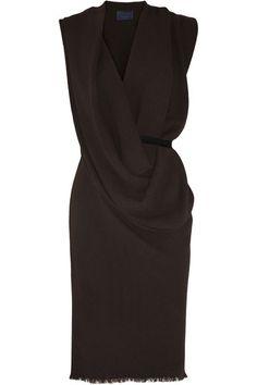 Lanvin Draped Cocktail Dress