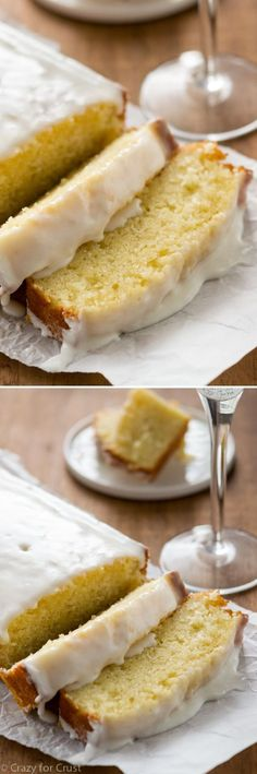 Champagne Pound Cake - the easiest loaf cake recipe! Every bite tastes like champagne. No one could stop eating it!