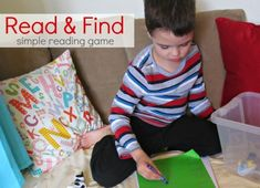 Fun reading game for emergent readers