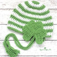 Crochet Shamrock Earflap Hat Tutorial