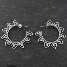 FashionJunkie4Life - Lotus Flower Hoop Earrings - 925 Sterling Silver, $39.99 (http://www.fashionjunkie4life.com/lotus-flower-hoop-earrings-925-sterling-silver/)
