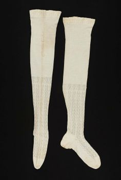 Early 19th century, America - Stockings - Cotton knit