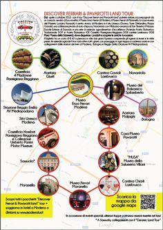 Discover Ferrari and Pavarotti land tour routes