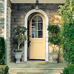 Trendy Arched Front Door Entryway Entry Ways Arched Front Door, Front Door Entryway, Arched Doors, Entrance Doors, Garage Doors, Entrance Ideas, Diy Garage, Front Entry, Front Porch