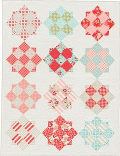 """""""Refreshingly Retro"""" quilt by Elizabeth Dackson, author of Becoming a Confident Quilter."""