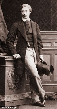 A young and slim Albert Edward, Prince of Wales