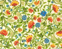 Garden Jewels in Ivory/Gold from the 'Field Notes Metallic' collection by SEI for Robert Kaufman Fabrics