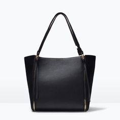 Image 1 of ZIPPED SHOPPER BAG from Zara
