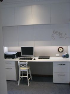 Study nook with concealed LED lighting