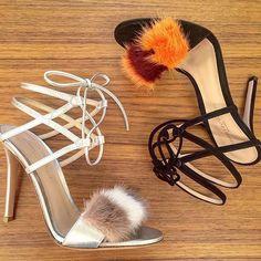 Power puff: sandals by @gianvitorossi.