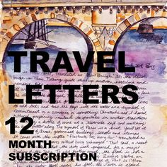 TRAVEL LETTERS 12 month subscription by JaniceArtShip on Etsy
