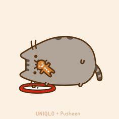 So cute Pusheen Pusheen Love, Pusheen Cat, Grumpy Cat, Pusheen Christmas, Christmas Cats, Merry Christmas, Fat Cats, Cats And Kittens, Crazy Cat Lady
